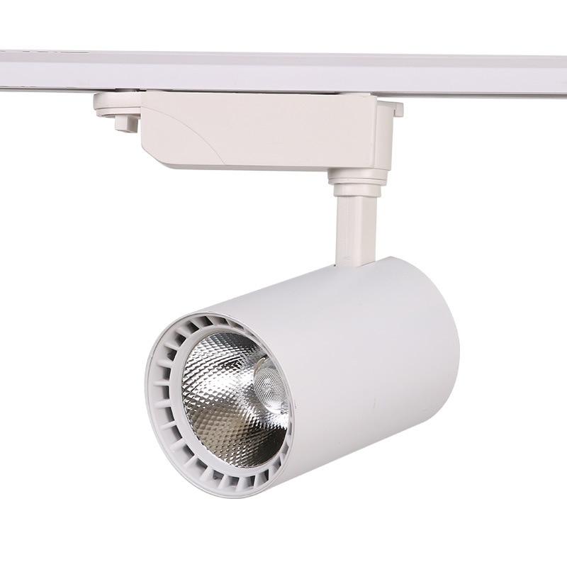 Cob led 트랙 조명 램프 12 w 30 w 20 w 트랙 조명기구 스포트 레일 스포트 라이트 천장 조명 220 v 상점 의류 매장