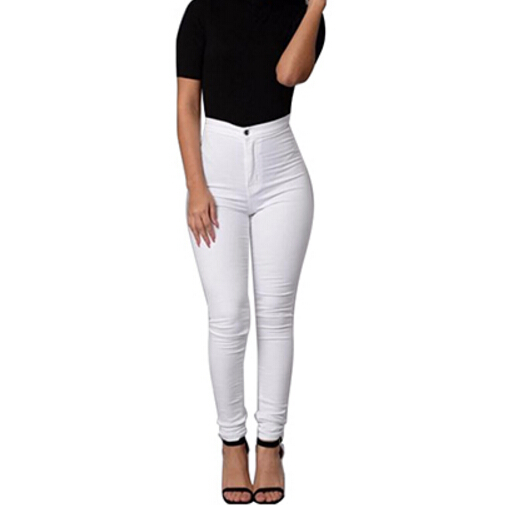 Slim Jeans For Women Skinny High Waist Jeans Woman Blue Denim Pencil Pants Stretch Waist Women Jeans Black Pants Calca Feminina nvzhuren solid denim jeans for women high waist elastic long skinny slim jeans trousers plus size spring autumn ladies pants
