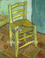 100% handmade Vincent Van Gogh Oil Painting reproduction on linen canvas,Van Gogh's Chair ,Free DHL Shipping,Museum quality