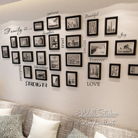Family Quote Wall Sticker Love Trust Laughter Smile Home Quote Wall Decal Photo Wall Quote Easy