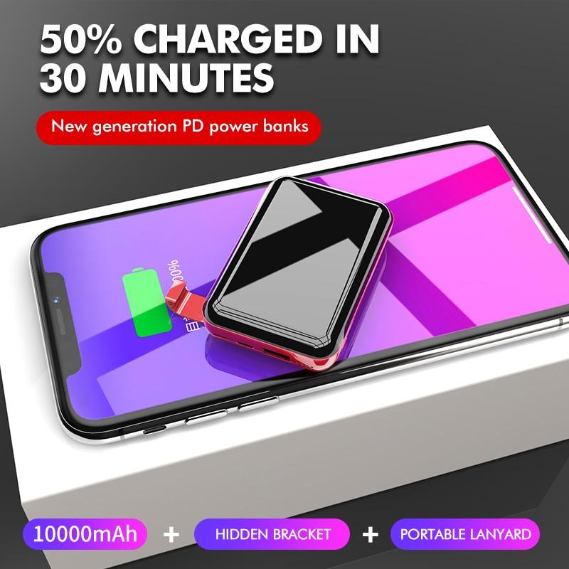 LINGCHEN 10000mA mini batterie externe PD 3.0 chargeur rapide rapide pour iPhone Xiao mi mi 9 Huawei chargeur de batterie externe PortableLINGCHEN 10000mA mini batterie externe PD 3.0 chargeur rapide rapide pour iPhone Xiao mi mi 9 Huawei chargeur de batterie externe Portable