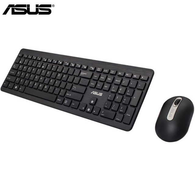 71dac30dd77 Asus Professional teclado 2.4Ghz USB Wireless gaming Keyboard+Mini Mouse Set  Portable Computer Keyboard for pc for Laptop/Tablet