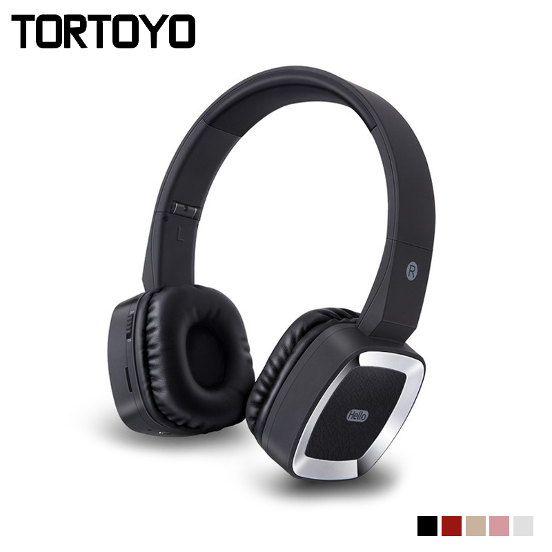 TORTOYO T6 Portable Wireless Bluetooth Headphone HiFi Stereo Music 3D Surround Sports Headset for Phone PC Support Calls TF Card smallest music phone calls hands free stereo bluetooth mini earphone headset for iphone 7 6 6 plus 5s 5c galaxy s5 note 3 4