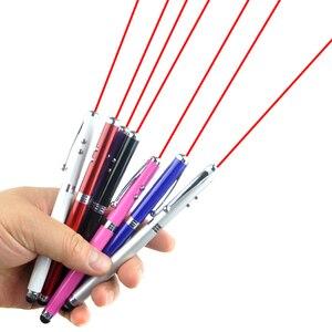 Image 2 - 500 шт./лот 4 в 1 точечная красная лазерная указка обучающий инструмент светодиодная шариковая ручка стилус для iPhone Ipad 1 2 Samsung портативный
