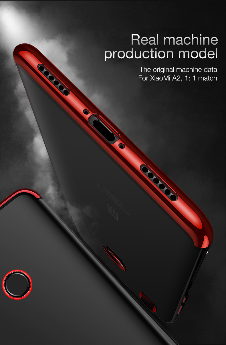 US $3 99 20% OFF|CAFELE Plating Case for Xiaomi mi A2 6X Smooth Touch Case  for Xiaomi mi 6X A2 Ultra Thin Soft Transparent TPU Seamless Cover-in