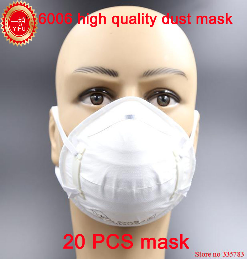 20PCS YIHU respirator dust mask High quality Electrostatic cotton respirator mask PM2.5 smoke anti pollution safety face mask все цены