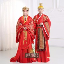 Traditional National Tang Song Ming  stage Cosplay Costumes Chinese national hanfu Red ancient china Couple suits men clothing