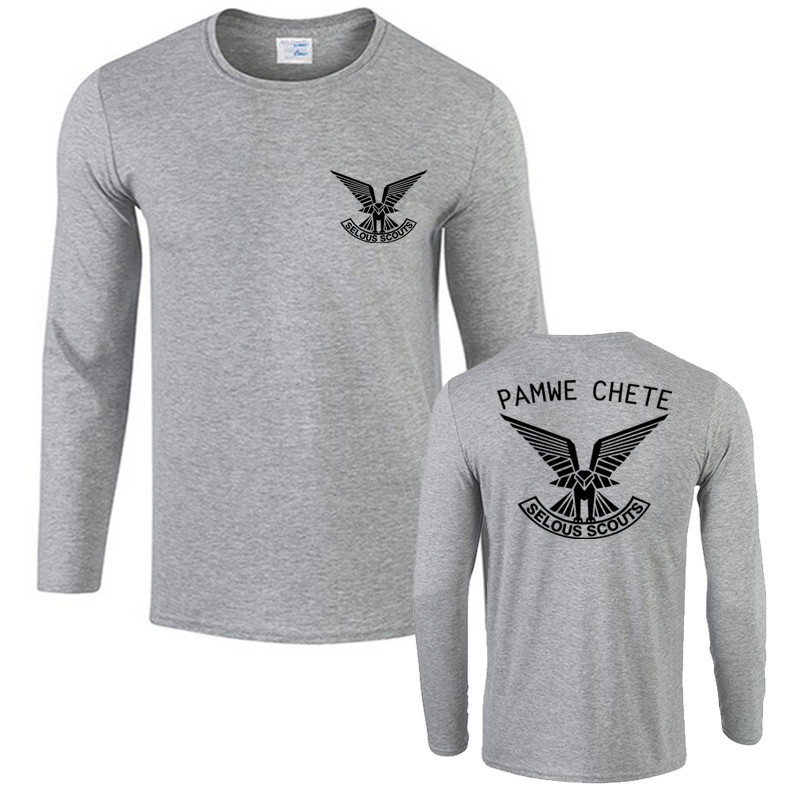 Rhodesian Army Pamwe Chete Selous Scouts Special Forces T shirt Men s Cotton  Long Sleeve Tops Tee Shirts-in T-Shirts from Men s Clothing   Accessories  on . 60497c468