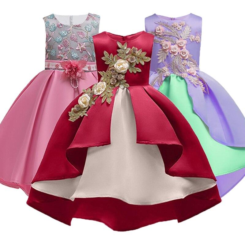 Los niños vestidos de las niñas elegante princesa vestido niña de las flores vestidos para fiesta y boda Vestido de Niños de traje de Carnaval