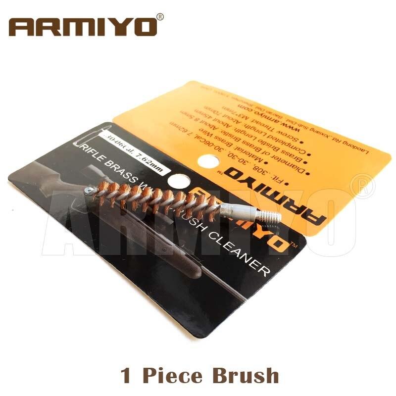 Image 2 - Armiyo. 30Cal 7,62 мм ружье отверстие щетка для очистки ружья набор цельный Чистящий Набор подходит AK Охотничьи аксессуары резьба винта 8 32