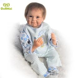 Детские куклы reborn, комплект одежды для новорожденного мальчика bebe 22 дюймов реалистичные pop Мягкие силиконовые куклы, игрушки для детей, пода...