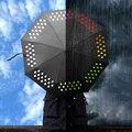 2017 Criativo 1 pcs Mudança da Cor do Guarda-chuva Rainbow Rain Drops Novidade Ano Novo Xmas Presente do guarda-chuva da chuva das mulheres para a venda