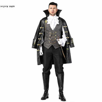 Men Noble Knight Pirate Cosplay Halloween Dracula Vampire Costume Carnival Purim Masquerade Stage play Nightclub Bar party dress - DISCOUNT ITEM  29 OFF Novelty & Special Use