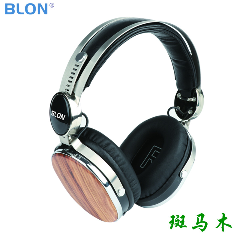2018 BLON HD08BT Wooden Bluetooth V4.1 40mm Speaker Dynamic Portable Hifi Music Wireless Handsfree Stereo Headphone Headset