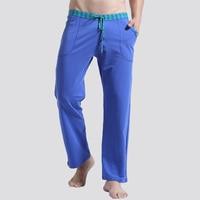 Men Sleep Lounge Loose Pants Cotton Mens Solid Bottoms Breathable Men Pants Casual Yoga Pajamas Pants