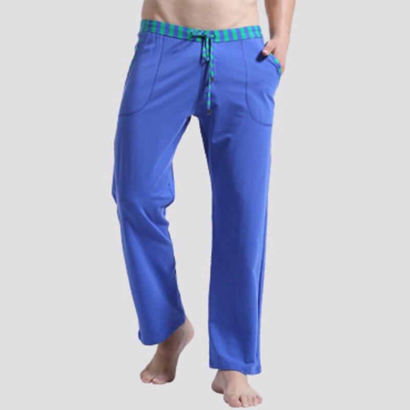 Men Sleep Lounge Loose pants Cotton mens Solid bottoms Breathable Men pants casual  Pajamas Pants Trousers Home Wear Pyjamas