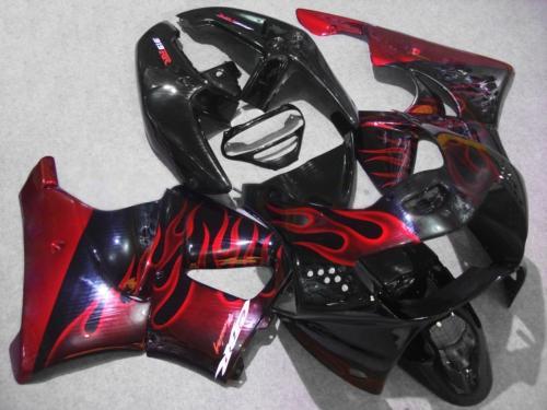 Motorcycle Fairing kit for HONDA CBR900RR 919 98 99 CBR 900RR CBR900 1998 1999 ABS Red flames black Fairings set+7gifts HG11