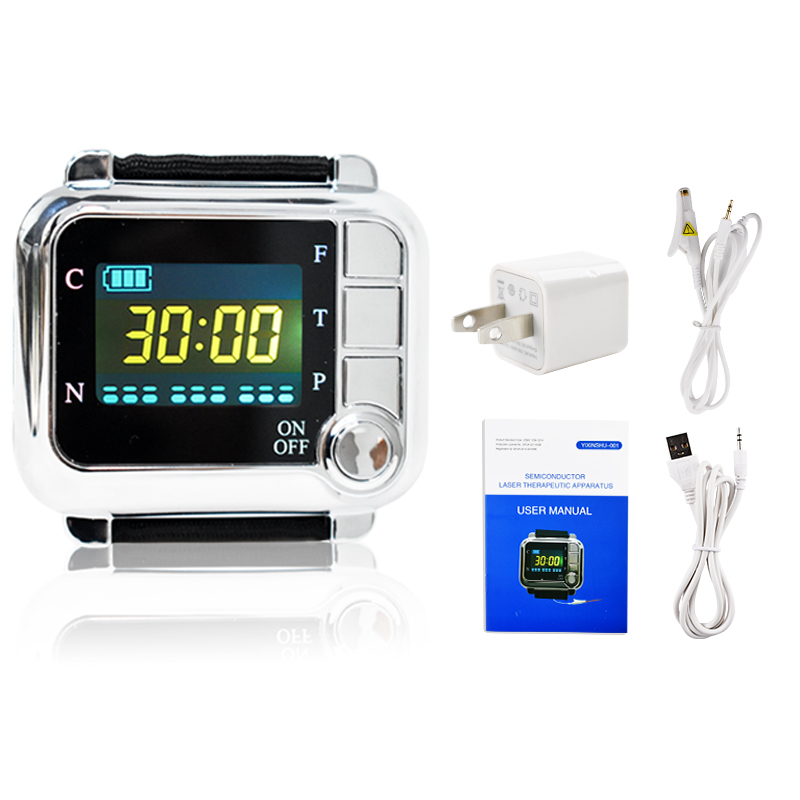 Healthcare 650nm laser light/wrist Diode low level laser Physiotherapy therapy LLLT For diabetes hypertension Rhinitis treatment ce laser physiotherapy 650nm diode laser light low level laser therapy lllt for diabetes hypertension high blood treatment watch