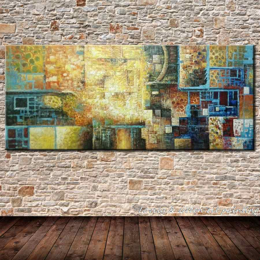 Hand Made Abstract Oil Painting On Canvas Modern Art Decorative Painting Living Room Wall Paintings Colorful Fashion Iridescence