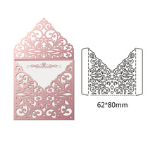 New Creating Scrapbook Greeting Cards Cutting Dies Lacework Hollow Frame Metal Stencil Embossing Pattern