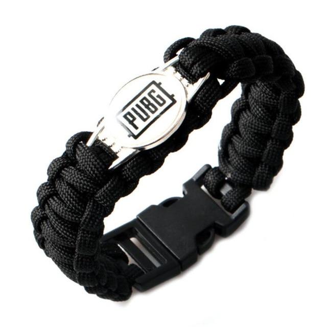 2018 Game PUBG Knit Bracelet Playerunknown Battle Fields Cosplay Accessories Dinner Chicken rope chain Leisure sports bracelet