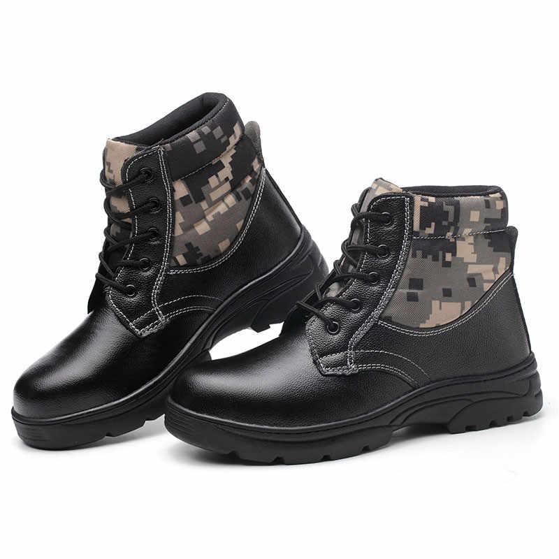 Bouw Heren Outdoor Warm Stalen Neus Werkschoenen Schoenen Mannen Camouflage Punctie Proof Veiligheidsschoenen Heren Winter Laarzen 36 -46