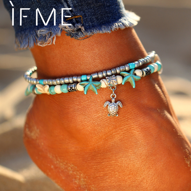 Bohemian Turtle Beads Anklets For Women