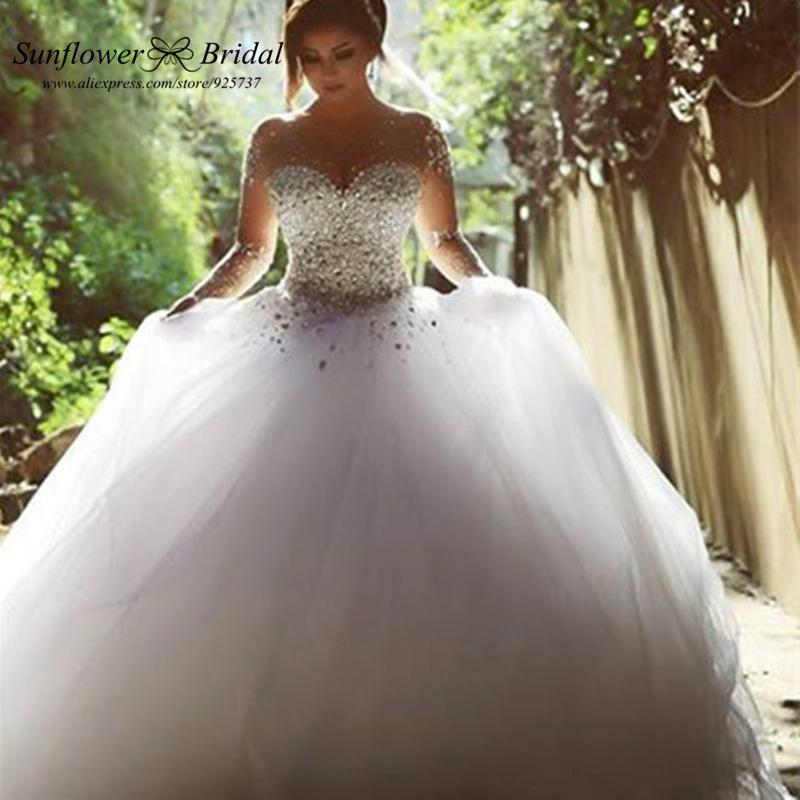 Crystal Wedding Gown: Online Get Cheap Rhinestone Wedding Dresses -Aliexpress
