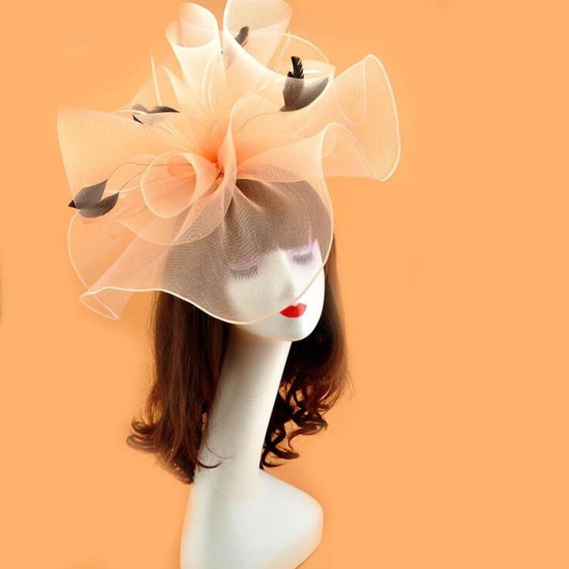 Ev ve Bahçe'ten Parti Armağanları'de Kadın Lady Kızlar Peçe silindir şapka Örgü Tüy Saç Tokası Kadın saç aksesuarları Düğün Parti Lehine'da  Grup 1