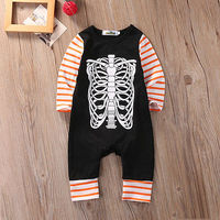 Autumn Warm Newborn Toddler Baby Boys Girls Clothes Cotton Long Sleeve Bone Striped Romper Jumpsuit Baby Outfits Clothes