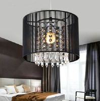 Modern Crystal Pendant Light For Dining Room E27 Crystal Chandeliers Round Lamp Living Room Lights Curtain