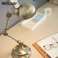 Modern robot table lamp bedside study room bedroom lamp bronze Russian rose gold metal lampshade mechanical desk reading light