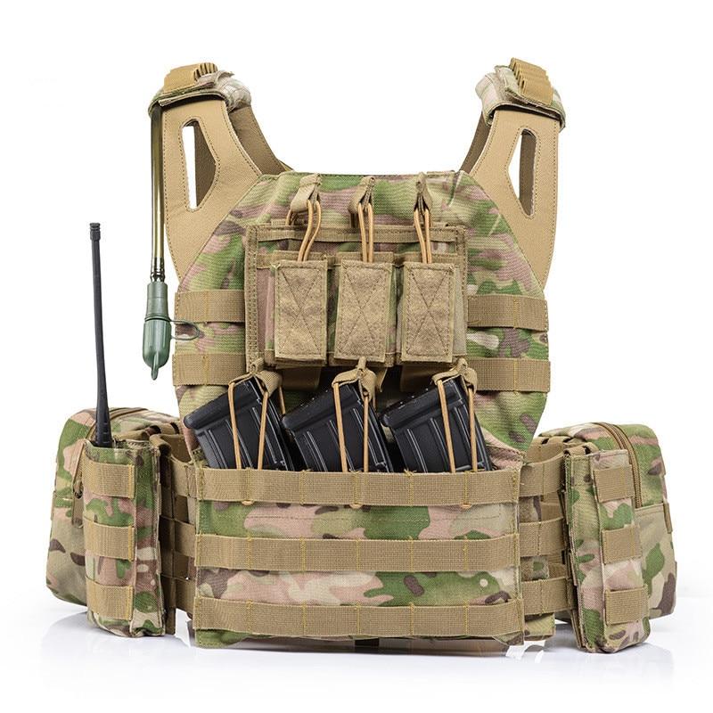 Ligero combate Molle sistema táctico chaleco al aire libre CS campo ejército entrenamiento tiro deportes proteger Chaleco con bolsa de agua - 2