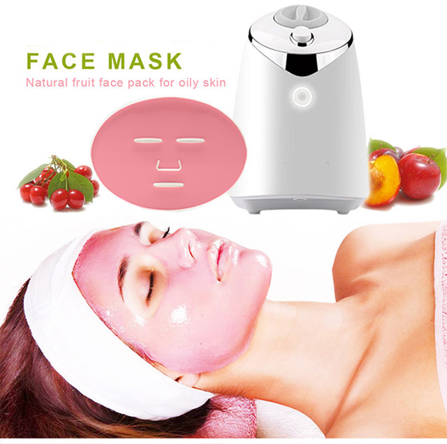 DIY Fruit Mask Machine Automatic Face Mask Maker 100% Natural Vegetable Fruit Mask Beauty Skin Care Tool with Collagen Tablets