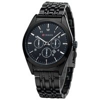 50pcs Lot Relogio Masculino Luxury Curren Brand Full Stainless Steel Analog Display With Date Quartz Cusual