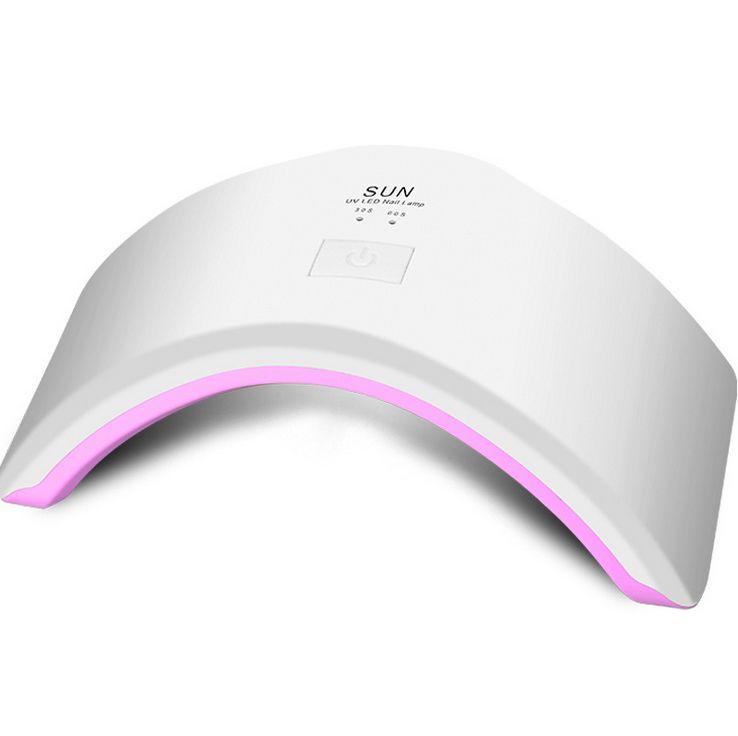 24W Sun UV Led Nail Gel Polish Dryer 30 seconds & 60 seconds Timer Setting LED UV Gel Curing Nail Lamp for Fingernail & Toenail