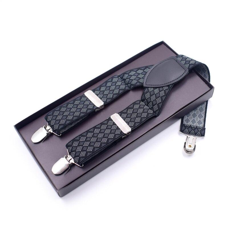 Man's Suspenders Fashion Braces Strong 3 Clips Women's Suspenders Trousers Suspensorio Elastic Strap Size 3.5*120cm