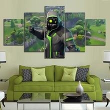 5 Piece Fortnite Landscape Wallpaper for Home Decor