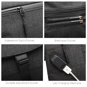 Image 5 - Sac à bandoulière en toile pour hommes, sac à bandoulière étanche + mallette pour voyage daffaires, sacoche de bonne qualité