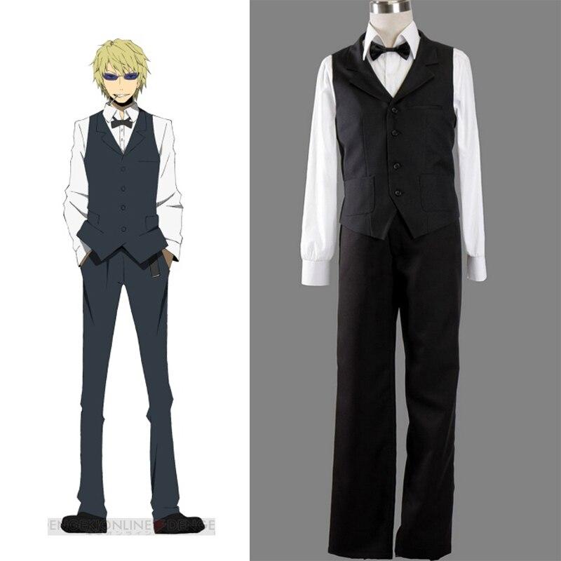 Anime DRRR durarara! Dyurarara Shizuo Heiwajima Cosplay traje traje de hombre ropa Casual establece(