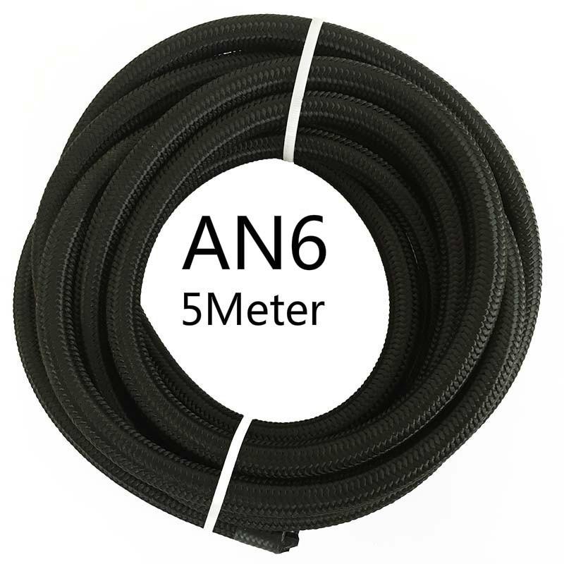 ESPEEDER 5 м AN4 AN6 AN8 AN10 AN12 гоночный шланг Труба Универсальный нейлон-нержавеющая сталь топливная линия Черный Масляный охладитель шланг трубки