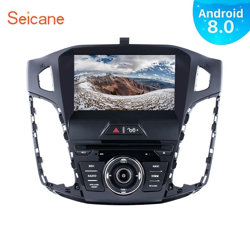 Seicane 1Din Android 8.0 8 Voiture Radio Pour Ford Focus 2011 2012 2013 4 gb RAM Tochscreen Lecteur Multimédia GPS Système de Navigation