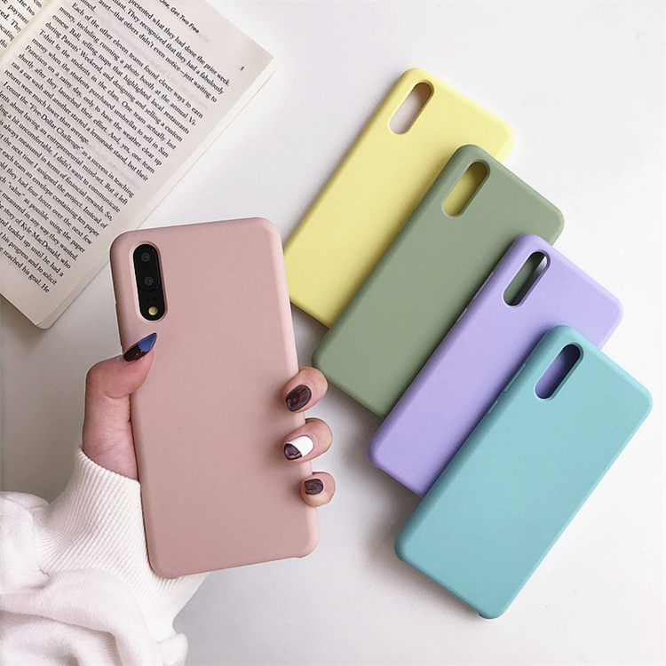 Sinbeda TPU Silicone Cases Color For Huawei P20 Lite Pro High Quality Silicone Frosted Shockproof Cover For Huawei Y5 Y9 P10