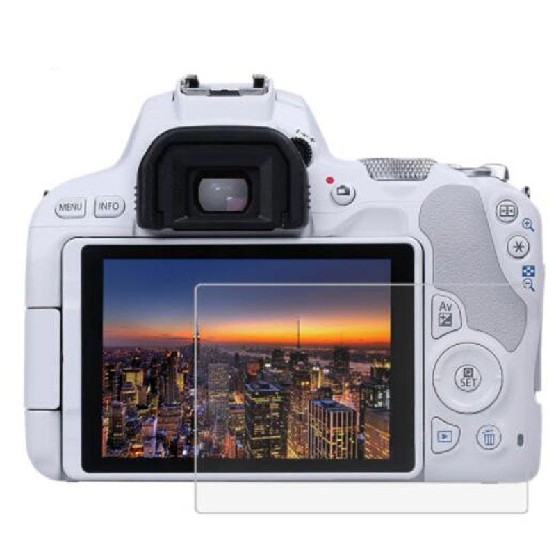 Tempered Glass Protector Guard for Canon EOS 200D Rebel SL2 / Kiss X9 Camera LCD Display Screen Cover Protective Film Protection-in Camera LCD Screen from Consumer Electronics