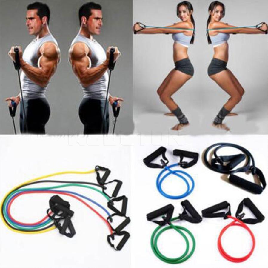 Latex Elastic Resistance Band Pilates Tube Pull Rope Gym Yoga Fitness Rope hot
