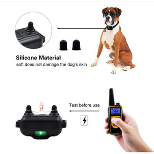 Image 4 - 전기 개 훈련 칼라 모든 크기에 대 한 LCD 디스플레이와 방수 충전식 원격 제어 애완 동물 나무 껍질 중지 칼라 40% 할인