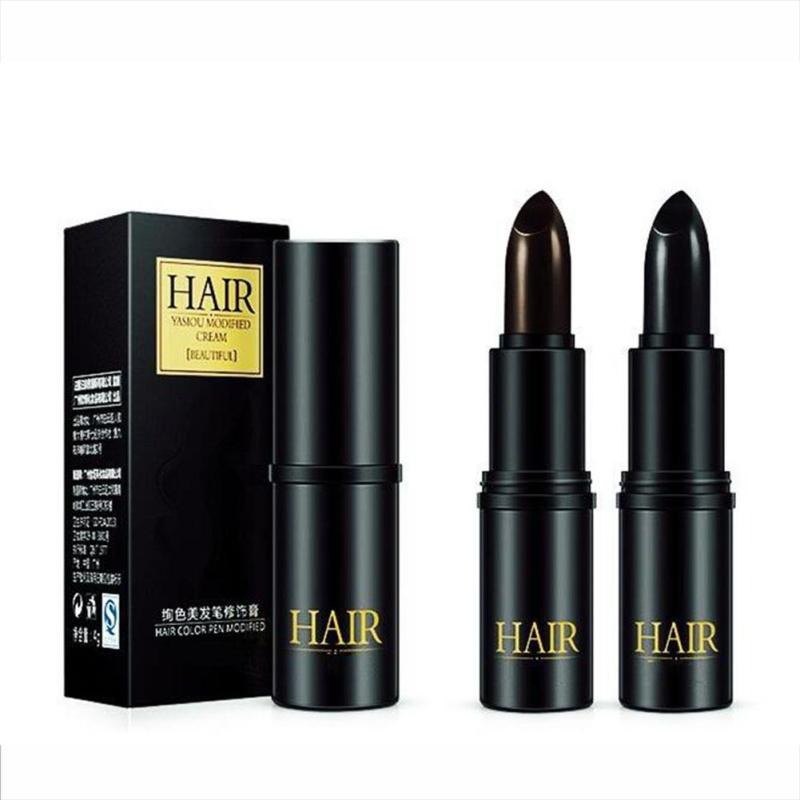 1Pc Black Brown Hair Dying Pen Temporary Cosmetic Cover Grey White Hair Hair Color Cream B4