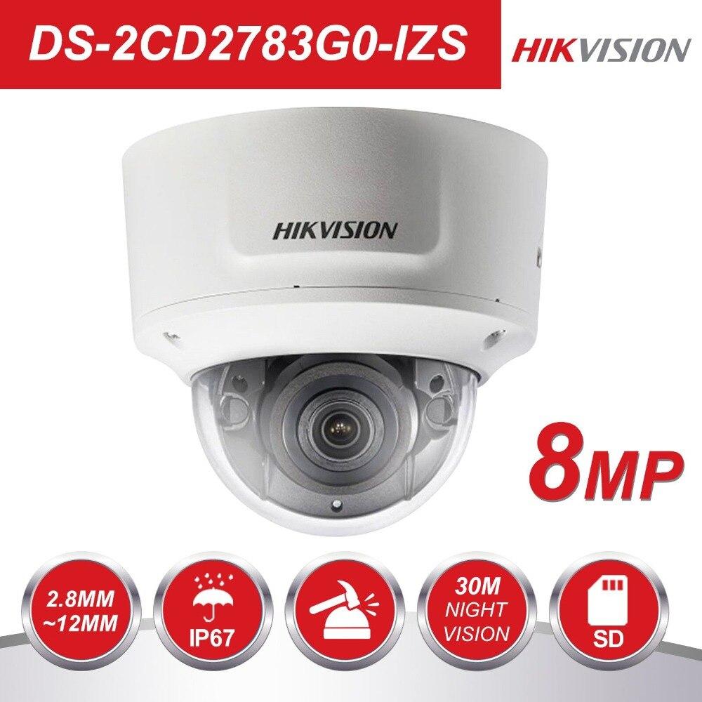 Hikvision Vari-focal-focal 2.8-12mm DS-2CD2783G0-IZS 8 Megapixel Câmera Dome IP POE CCTV Câmera De Vigilância Por Vídeo H.265 IR 30 m