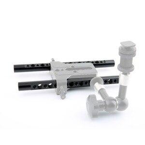 "Image 5 - NICEYRIG กล้อง DSLR Rig ชีส 15mm Rod Bracket 1/4 ""3/8"" M12 สกรูหลุมไหล่แท่ง 15 มม. ระบบ Rod Rail ความยาว 197 มม."