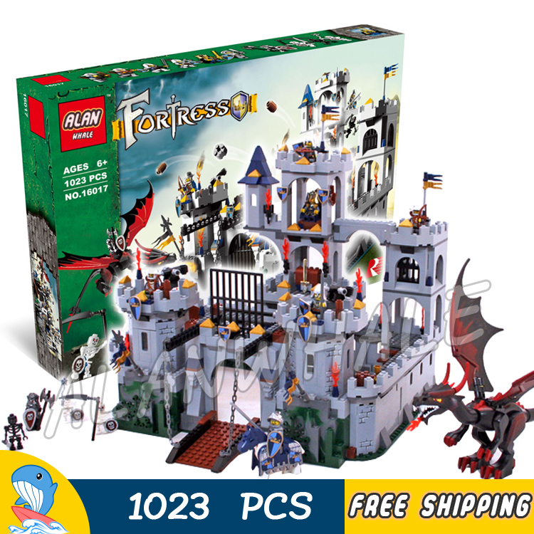 1023pcs Kingdoms Knights King's Castle Siege 16017 Model Building Blocks Assemble Bricks Children Toys Compatible With Lego